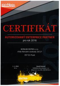 certifikát Enterprice